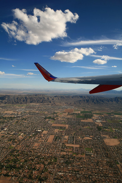 Taking off from Tucson