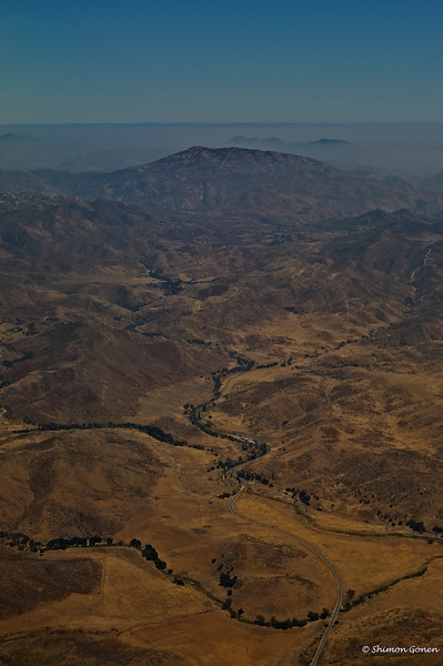 Hills near the border in San Diego