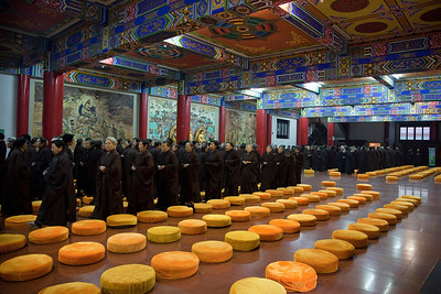 A walking chant through the main temple at Wenshu in Chengdu