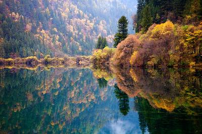 Autumn Colors at Jiuzhai Gou Park