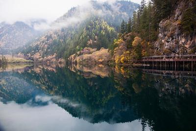 Autumn Colors at Jiuzhai Gou Park along Panda Lake