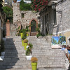 Taormina - an unusual floral displays in a side street of Corso Umberto.