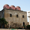 Palermo - this is the Chiesa San Cataldo, which was founded in approximately 1160 and features Arabian - Norman architecture.