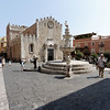 Taormina - Piazza del Duomo and the Cathedral of St. Nicholas.