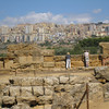 Agrigento - a view of the modern part of the city, as seen from the location of the Temples.
