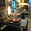 Palermo - an enticing display of foods at one of the local restaurants.