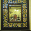 Caltagirone - this mirror was located in the shop where we had our Ceramics demonstration, so I thought this would make a good photo.