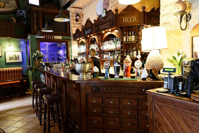 Taormina - interior of a distinctive Irish Pub where I had lunch one afternooon.