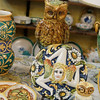 Caltagirone - some of the many unusual ceramic products.