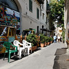 Palermo - a small street where we toured a small shop, the entrance of which is on the right where the owner is standing.