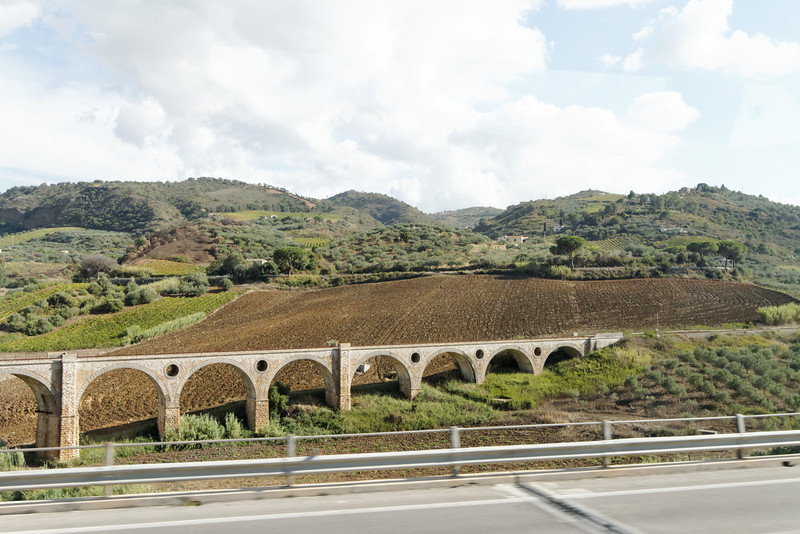 Sicily - more of the scenery and a beautiful rail bridge.
