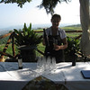 Near Mt. Etna - this is one of the young ladies that was serving the wine and lunch to our tour group.