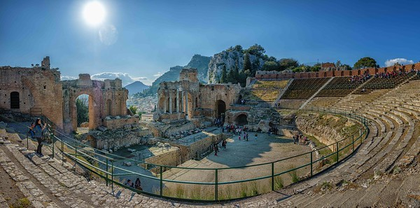 The Greco-Roman Theatre in Taormina