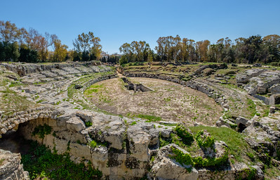 The Archeological Park in Syracuse -  the Roman Amphitheatre