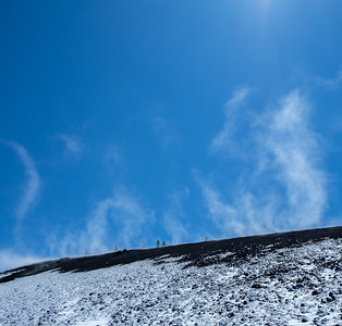 Walking high on Mount Etna