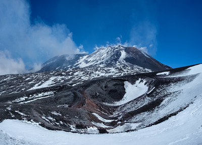 The summit of Mount Etna, seen from about 3000m