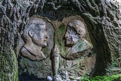 John F Kennedy and the Pope inside Chiesetta di Piedgigrotta