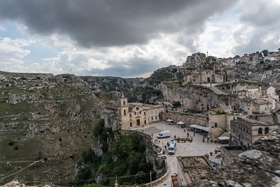 Matera , the ravine and  the cave churches