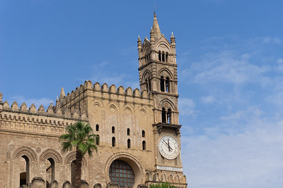 Clock tower of the Palermo Cathedral