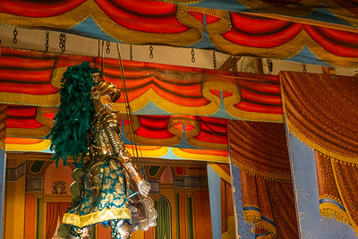 The stage and one of the marionettes