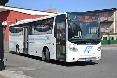 Randazzo station/bus yard (Ferrovia Circumetnea)
