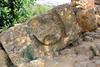 Temple of Zeus...rock showing circular cutout for column
