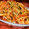 Linguine in langoustine and pistachio sauce