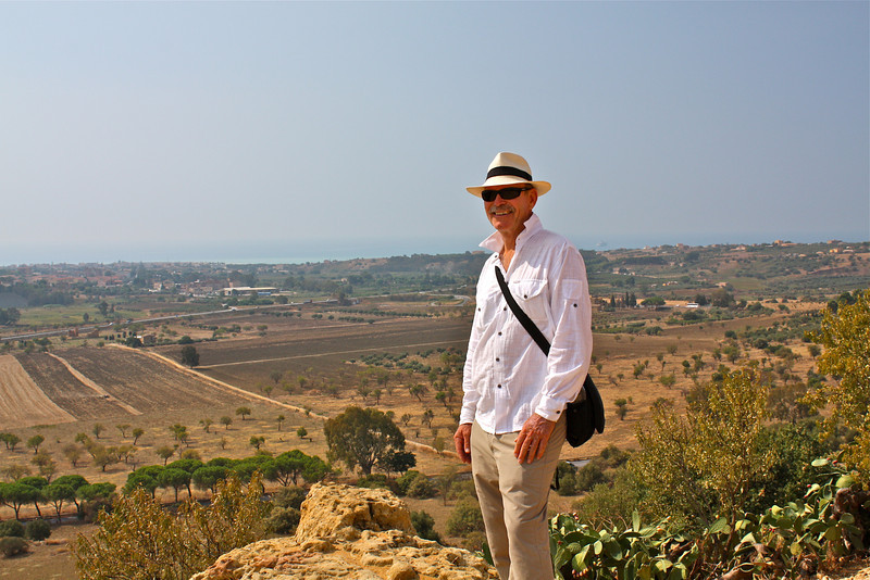 Agrigento countryside view...sea in distance.