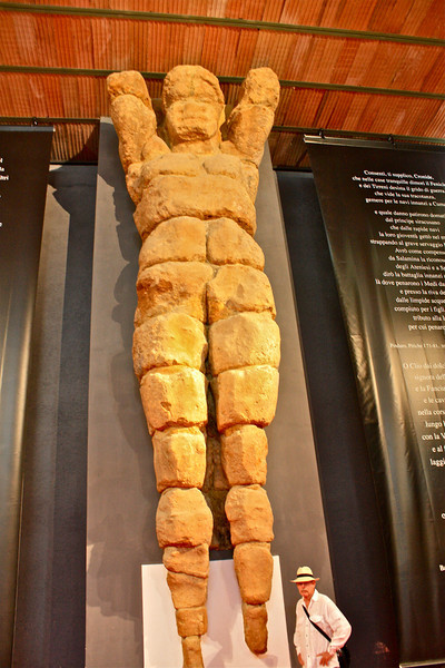 Life size Telamon at Archeology Museum