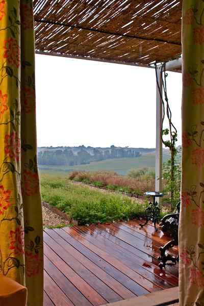 Our wet terrace