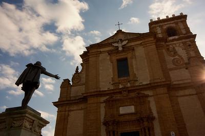 Cathedral, Piazza Amerina, dawn
