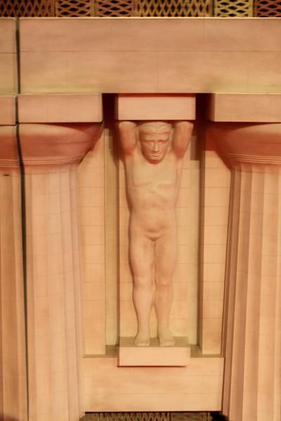 """Representation of Temple of Zeus """"Telamon"""" in museum"""