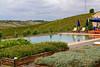 Infinity pool overlooking countryside