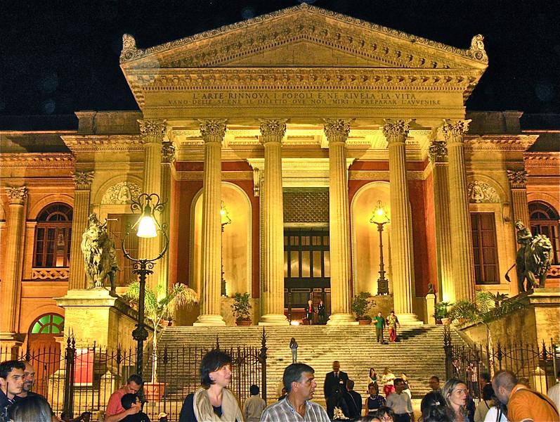 Exterior of Teatro Massimo