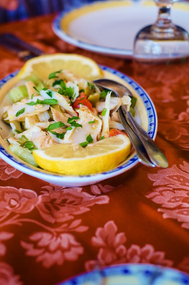 Sicilian stockfish salad