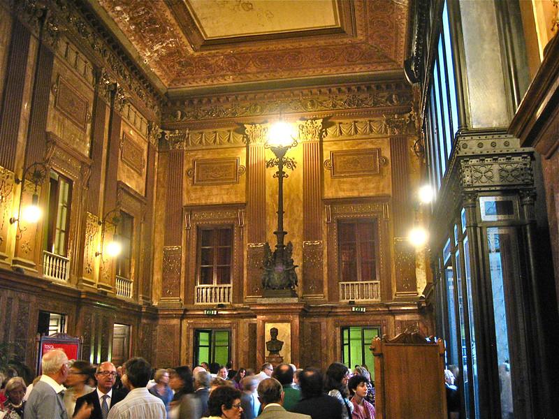 Lobby at Teatro Massimo