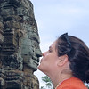 A kiss at Bayon Temple