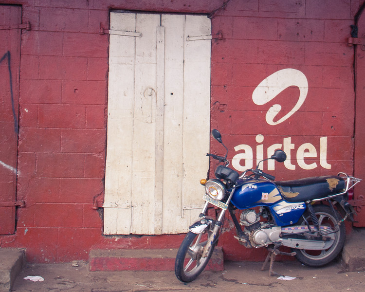 Airtel and Africa Cell wireless advertising was seen everywhere