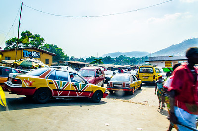 Colourful taxis.
