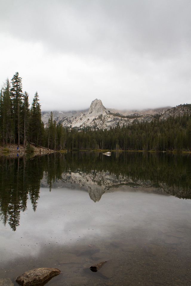 One of the Mammoth Lakes, just before a snow storm