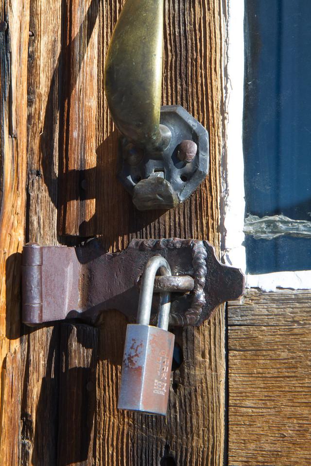 padlocks on doors.