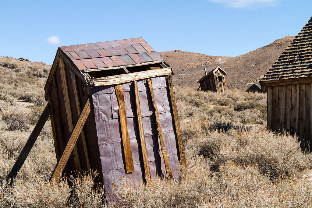 The outhouses are leaning more and more