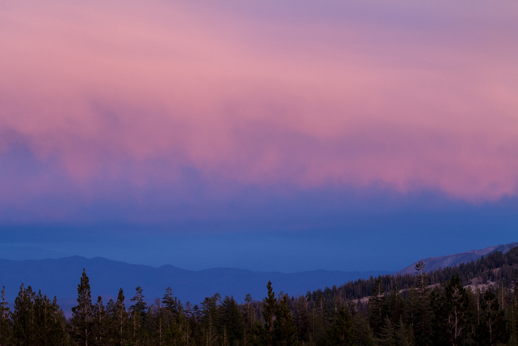 Sunset sky over White Mountains