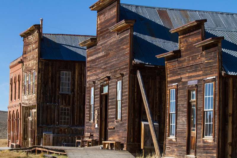 Near the entry of town some of the grander buildings stand. One of these is the state park's museum and store.