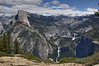 Half Dome, Vernal Falls and Nevada Falls from Washburn Viewpoint, Glacier Point road.