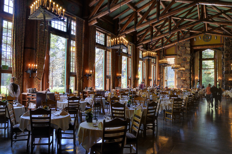 The Dining Room at the Ahwahnee Lodge.