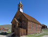 Methodist Church in the ghost town of Bodie, a former gold mining boom town, now a historical park.