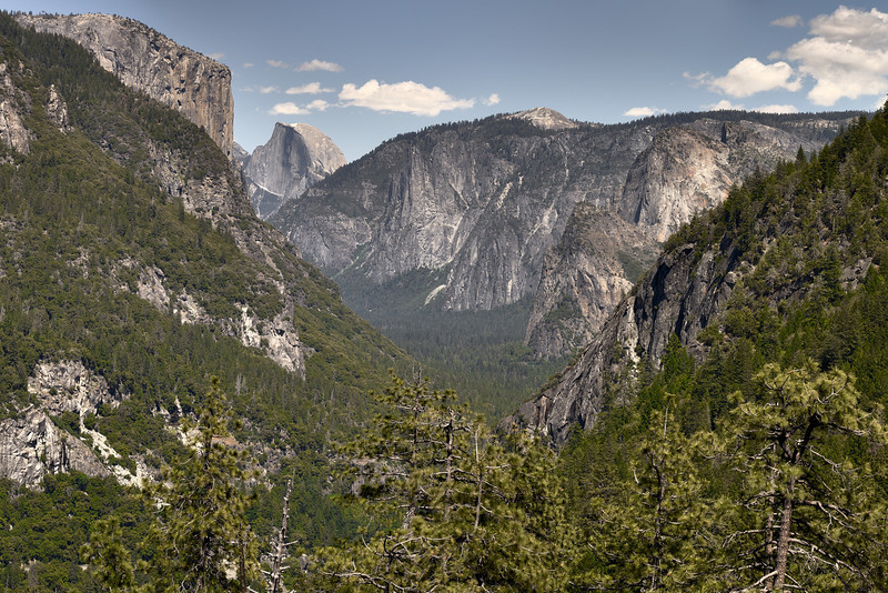 Yosemite Valley from Wawona Road approach.