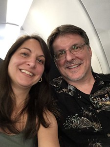 Mike and Diane on the plane