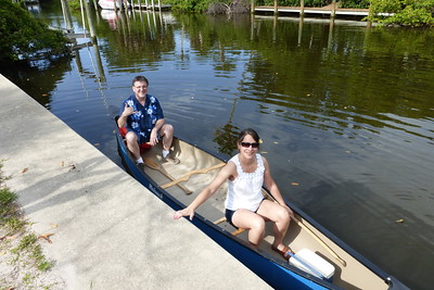 Mike and Diane in the canoe.